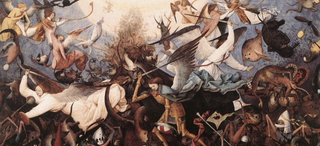 Bruegel, Fall of the Rebel Angels detail