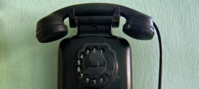 Phone on wall