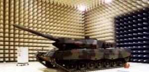 Anechoic chamber with tank